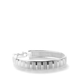 Sterling Silver Altro Cleopatra Stripe Bracelet 18.40g
