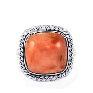 Pink Lady Opal Ring in Sterling Silver 6.63cts