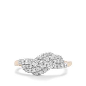 Russian VSi Diamond Ring in 9K Gold 0.51ct