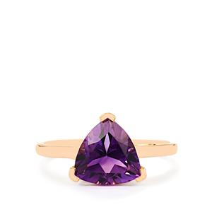 Moroccan Amethyst Ring in 10k Rose Gold 2.17cts