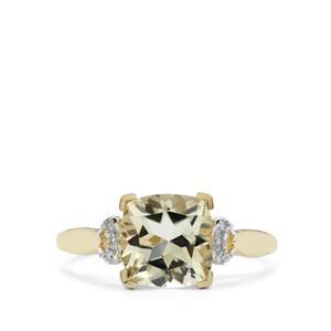 Serenite & Diamond 10K Gold Ring ATGW 2.18cts