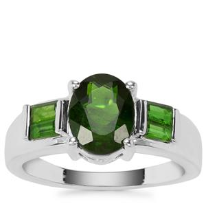 Chrome Diopside Ring in Sterling Silver 2.85cts