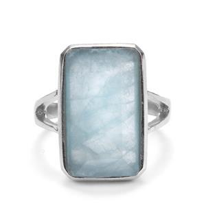 8.16ct Espirito Santo Aquamarine Sterling Silver Sarah Bennett Ring