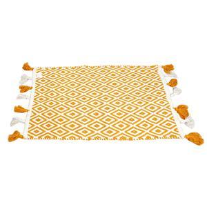 90 % Cotton & 10% Fibre Bath Mat (Colored: Mustard)