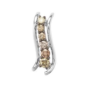 1/4ct Multi-Colour Diamond Sterling Silver Pendant