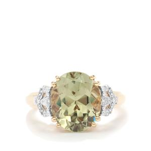 Csarite® Ring with Diamond in 18K Gold 5.58cts