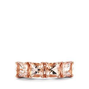 Alto Ligonha Morganite Ring in 10k Rose Gold 2cts