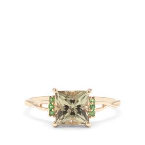 Csarite® & Tsavorite Garnet 9K Gold Ring ATGW 1.97cts