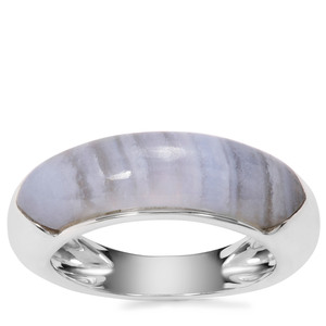 Blue Lace Agate Ring in Sterling Silver 4.61cts
