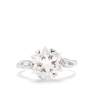 Wobito Snowflake Cut Itinga Petalite & Diamond 9K White Gold Ring ATGW 3.77cts