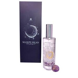 Gem Auras Sleepy Head Room Spray Set - Lavender Fragrance & Amethyst Palm Stone ATGW 45cts