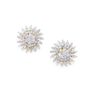 Diamond Earrings  in 10k Gold 1cts