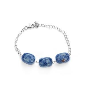 Sodalite Bracelet in Sterling Silver 82.90cts