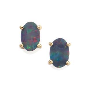 Crystal Opal on Ironstone Earrings in 10K Gold