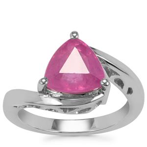 Ilakaka Hot Pink Sapphire Ring in Sterling Silver 3.23cts (F)