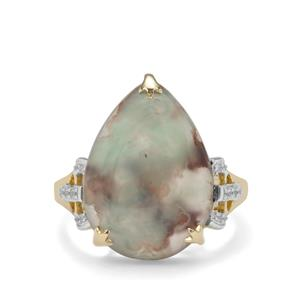 Aquaprase™ Ring with White Zircon in 9K Gold 8.23cts
