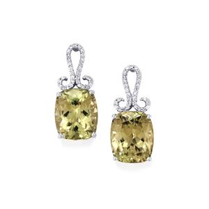 Csarite® & Diamond 18K White Gold Lorique Earrings MTGW 12.56cts