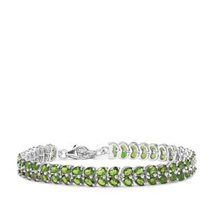 Chrome Diopside Bracelet in Sterling Silver 13.86cts