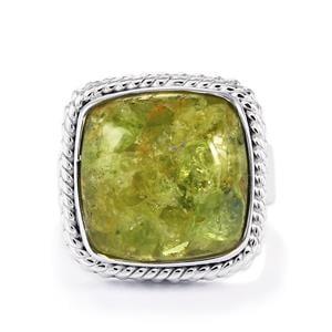 10.70ct Mojave Peridot Sterling Silver Aryonna Ring