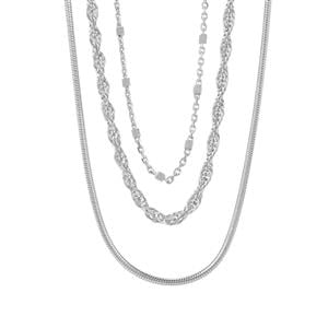 """18"""" Sterling Silver Set of 3 Chains 8.96g"""
