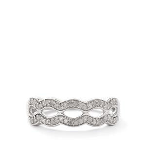 Diamond Wave 1/4ct Certified Sterling Silver Ring