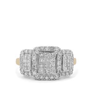 1ct SI GH Diamond 9K Gold Tomas Rae Ring