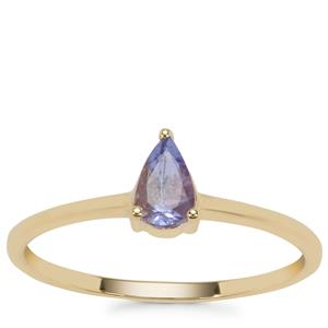 AA Tanzanite Ring in 9K Gold 0.41cts
