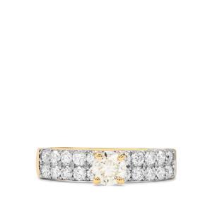 1.05ct Natural Coloured & White Diamond 18K Gold Tomas Rae Ring