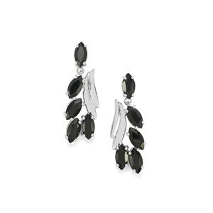 7.75ct Black Spinel Sterling Silver Earrings