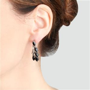 Black Spinel Earrings in Sterling Silver 7.75cts