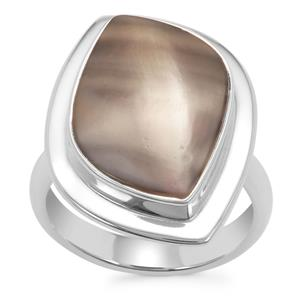 Cappuccino Flint Ring in Sterling Silver 6cts