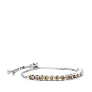 Ceylon Zircon Slider Bracelet in Sterling Silver 3.83cts