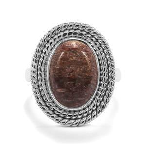 Dinosaur Bone Ring in Sterling Silver 6.93cts