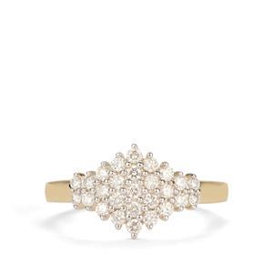 Diamond Ring in 18k Gold 0.51ct