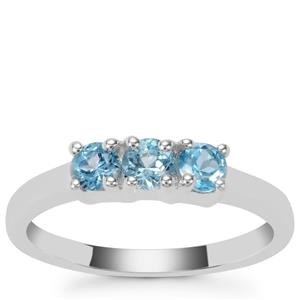 Swiss Blue Topaz Ring in Sterling Silver 0.67ct