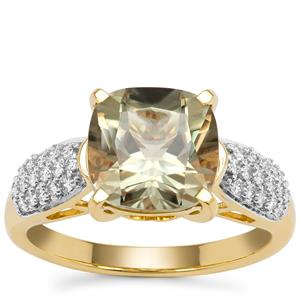 Csarite® Ring with Diamond in 18K Gold 3.65cts