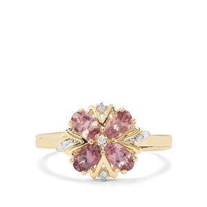 Mahenge Hope Spinel & Diamond 9K Gold Ring ATGW 1.07cts