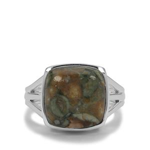 Rainforest Jasper Ring in Sterling Silver 6.50cts