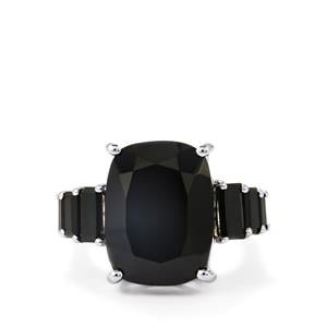 14.82ct Black Spinel Sterling Silver Ring
