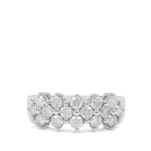 1.25ct Diamond 9K White Gold Tomas Rae Ring