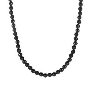 100ct Black Onyx Sterling Silver Slider Necklace