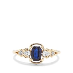 Nilamani Ring with White Zircon in 9K Gold 0.91ct