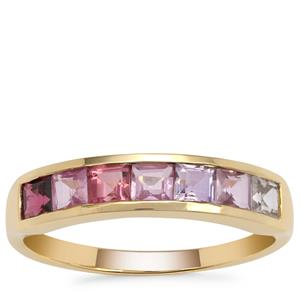 Kaleidoscope Gemstones Ring in 9K Gold 1.35cts