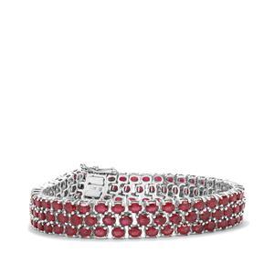 31.72ct Malagasy Ruby Sterling Silver Bracelet (F)