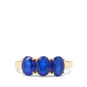 2.64ct Santorinite™ Blue Spinel 9K Gold Ring