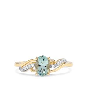 Aquaiba™ Beryl & Diamond 9K Gold Ring ATGW 0.68cts