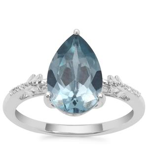 Versailles Topaz Ring with White Zircon in Sterling Silver 3.47cts