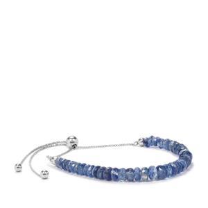Daha Kyanite Graduated Bead Slider Bracelet in Sterling Silver 20cts