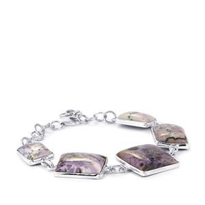55ct Tiffany Opal Sterling Silver Aryonna Bracelet