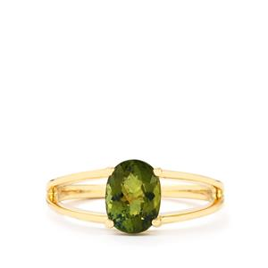 Cuprian Tourmaline Ring in 10k Gold 1.25cts